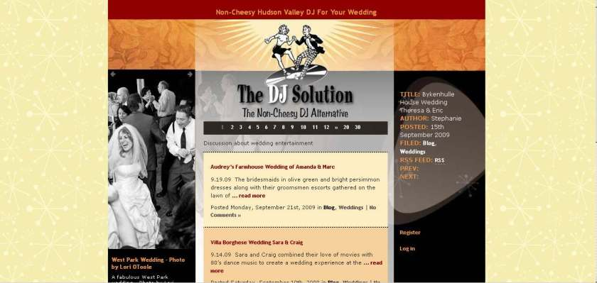 WordPress wedding blog by New York Web designer